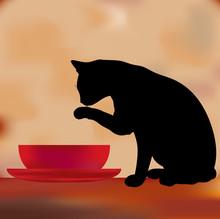 Cat With The Cream Menu Template