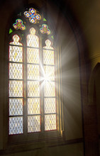 Church Stained-glass Window Wi...