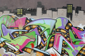 Fototapeta Graffiti Wall (City)
