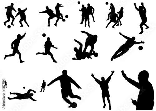 calcio raccolta (vettoriale) Canvas Print