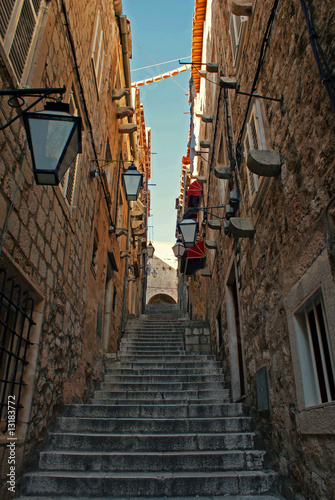 Canvas Prints Narrow alley Alley
