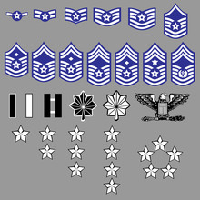 US Air Force Rank Insignia For...