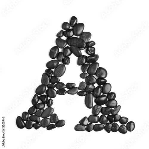 Wall Murals Coffee beans Rock Letter on White