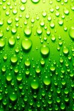 Water Drops On Metallic Surface