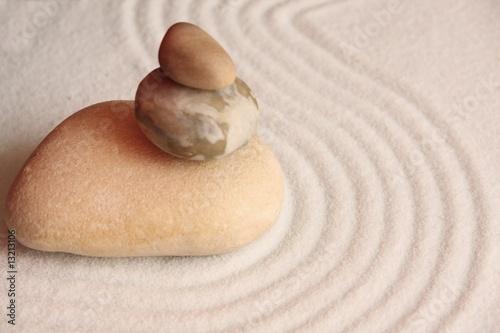 Photo sur Plexiglas Zen pierres a sable galets