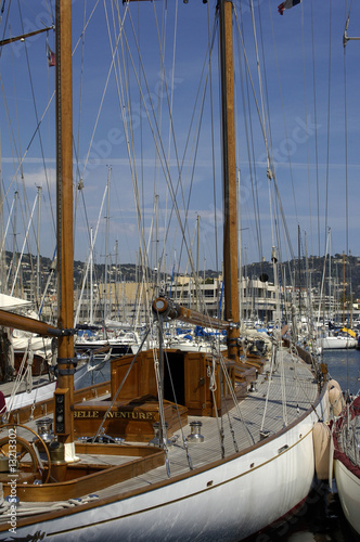 Tuinposter Schip France, Marseille, Vieux Port