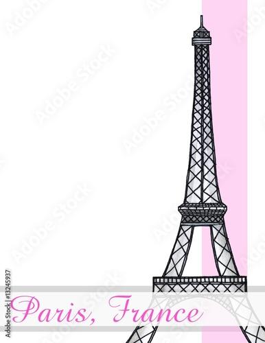 Recess Fitting Illustration Paris Eiffel Tower