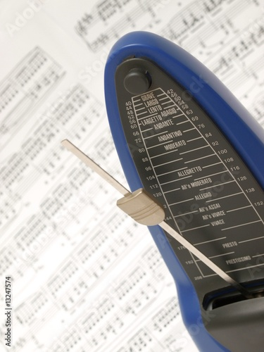 Metronome with Chopin's prelude in the background Wallpaper Mural