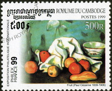 Cambodge, Fruit, Paul Cezanne.