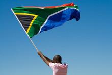 African Man Waving A South Afr...