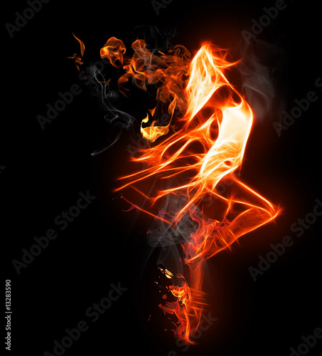 Wall Murals Flame flamy symbol