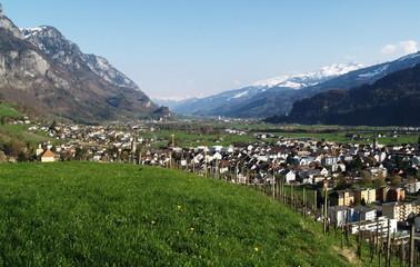 Fototapeta na wymiar walenstadt...suisse