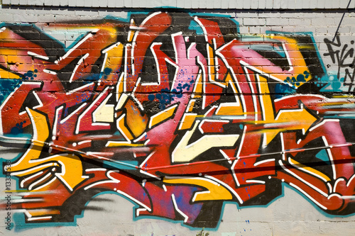 Foto op Aluminium Graffiti Urban grafitti art on the side of a building