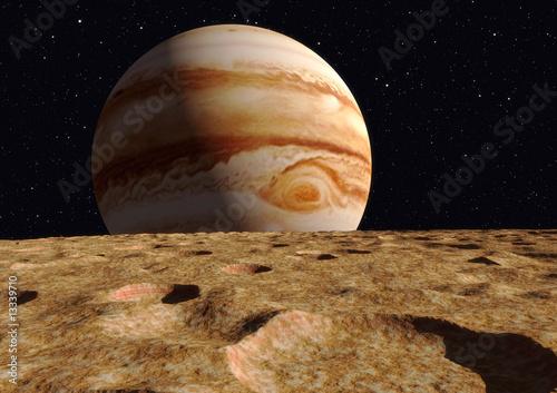 Fotografie, Obraz  ganymede moon jupiter