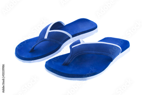 8e1071e4f542 a pair of flip flops isolated over white background - Buy this stock ...