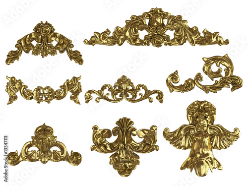 isolated gold ornaments © Roman King