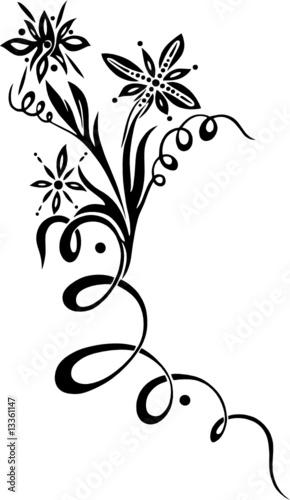 806cda6af Flower Tattoo, Tattoovorlage, Tribal Flash - Buy this stock vector ...