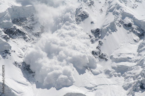 Photographie snow avalanche..