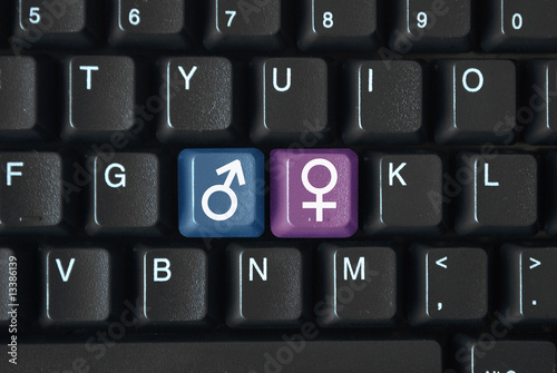 Male Female Symbols On Keyboard Buy This Stock Illustration And