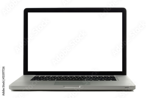 Fotografía  Laptop isolated on white