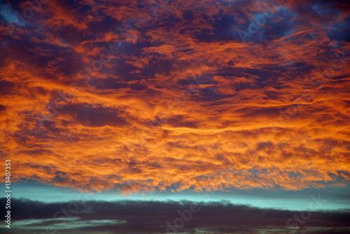 Fotografie, Tablou  Sunset cloudscape during a winter morning