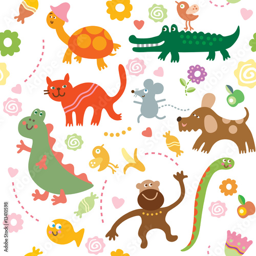 Seamless pattern for kids #13410598