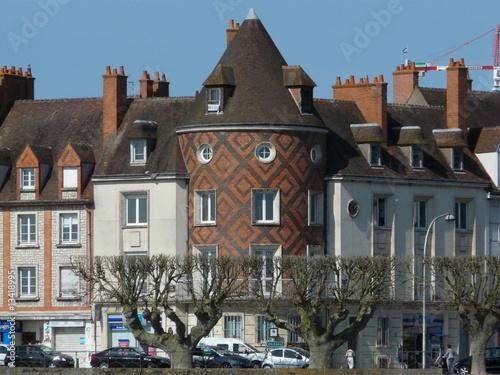 Fényképezés  maison en briques rouges