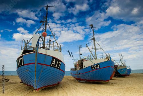 Cuadros en Lienzo Fischerboote am Thorup Strand