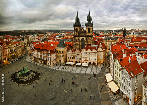 Printed kitchen splashbacks Prague View of Prague from a tower on Old Town Square