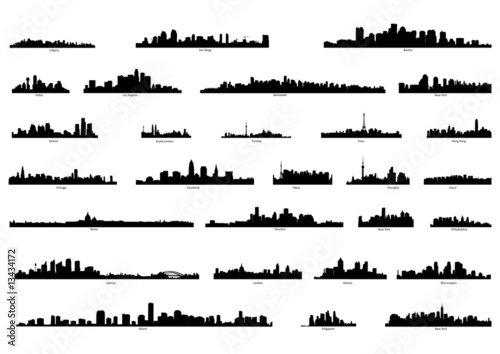 city silhouettes Poster