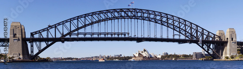 fototapeta na lodówkę Panoramic of Sydney Harbour Bridge