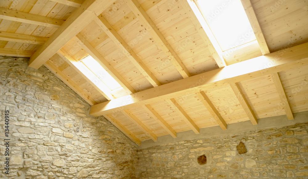 Fototapety, obrazy: Finestre nel tetto