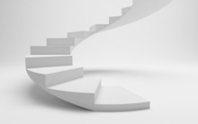 White Spiral Stairs To Success, The Road To Financial Freedom