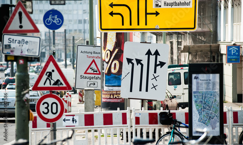 Fotografía  Straßenschilder