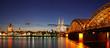 canvas print picture - Köln bei Sonnenuntergang