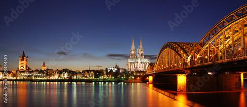 Fotomural  Köln bei Sonnenuntergang