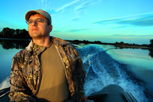 Fishing Men At Dawn Looking In...
