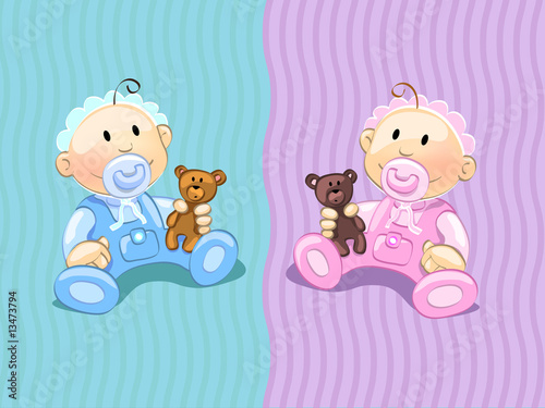 Foto-Stoff - babies (editable layers) (von flameia)