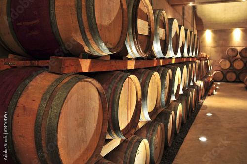 Fotografering  Wine barrels