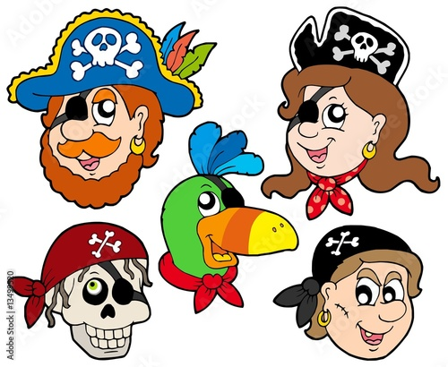 Foto op Plexiglas Piraten Pirate characters collection