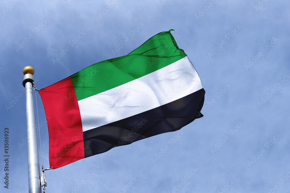 Fotografia drapeau emirats arabes unis