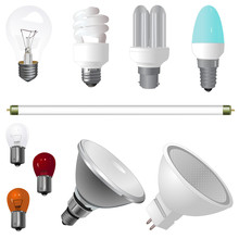 A Collection Of Various Lights Bulbs