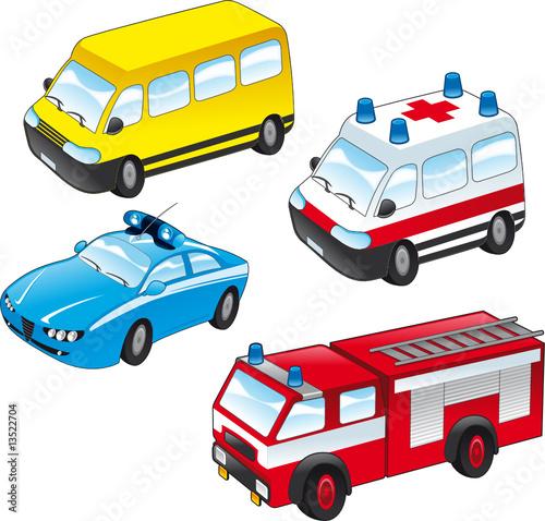 Foto-Stoff - cartoon vehicles (von ddraw)