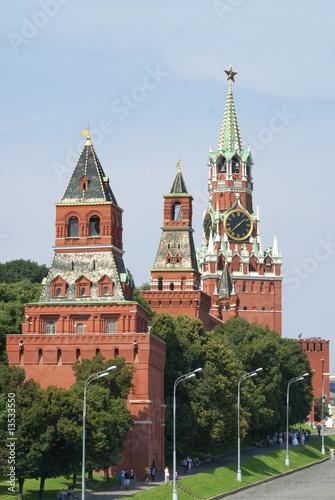 In de dag Aziatische Plekken Moscow cremlin