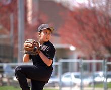 Baseball Pitcher Focus