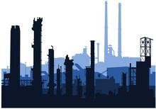 Skyline Industriale (blue)