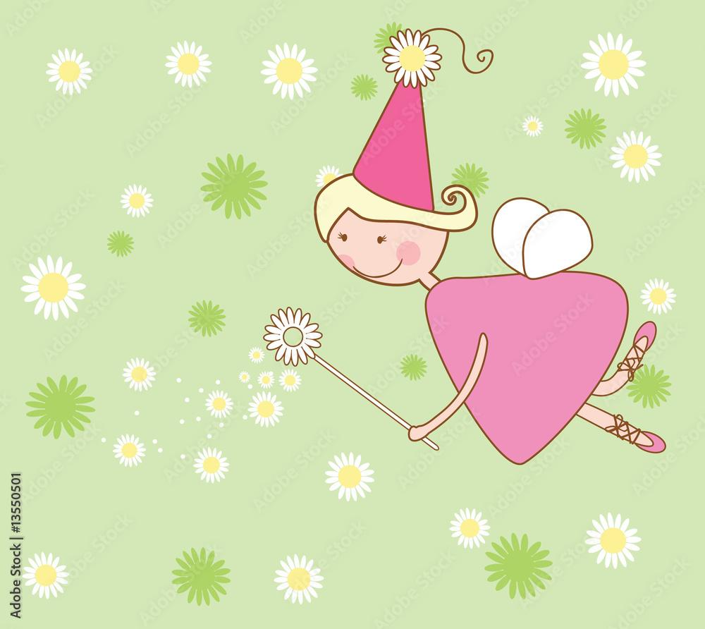 Foto-Lamellen (Lamellen ohne Schiene) - chamomile fairy