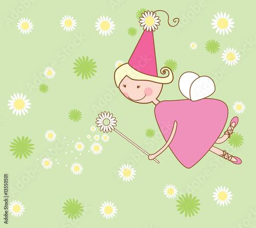 Foto-Stoff - chamomile fairy