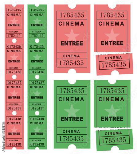Photo Tickets cinéma
