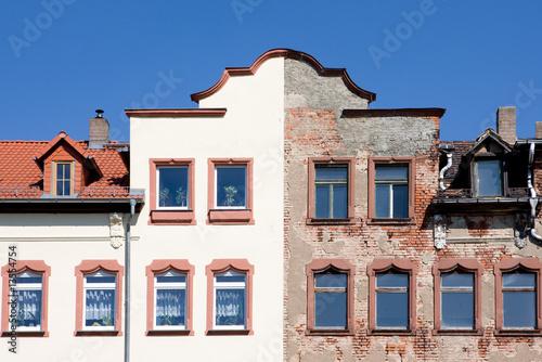Foto op Canvas Oude gebouw Haus Alt Neu